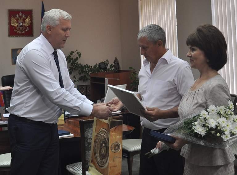 Вручение наград Сергею и Татьяне Мартыновым