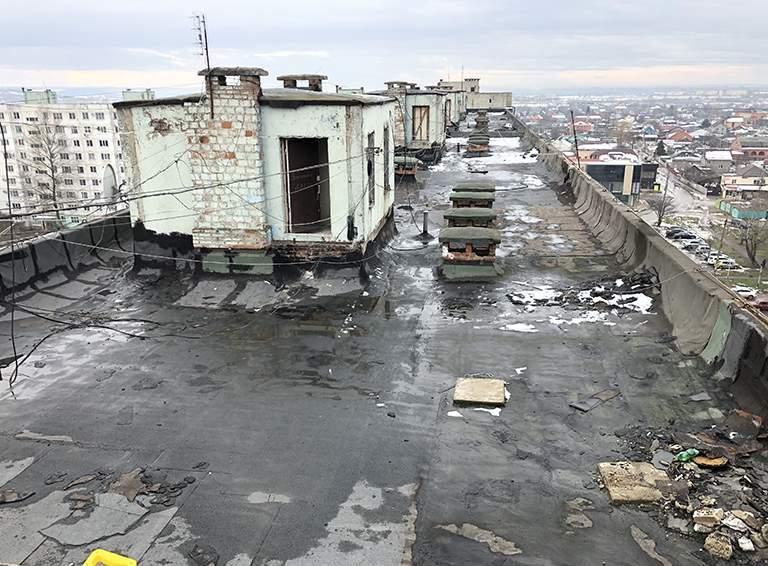 Такой была крыша дома №24 по ул. Гоголя