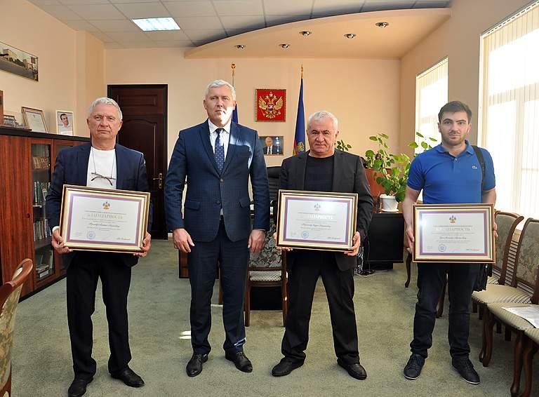 Алексей Фролов, Александр Шаповалов, Заури Пошнагов и Асланбий Цей