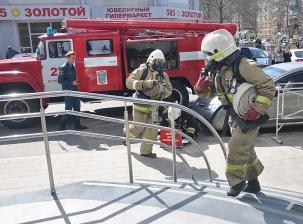 Пожарно-тактическое учение в КРК